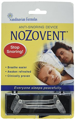 Scandinavian Formulas Nozovent Anti-Snoring Device, 2 Count