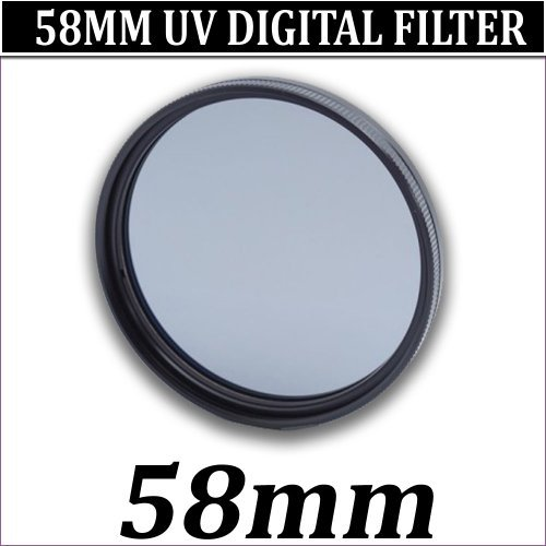 NEW 58MM MULTI COATED UV FILTER FOR 58MM LENS SIZE DIGITAL CAMCORDER, SAMSUNG CAMCORDER, CANON CAMCORDER, SONY CAMCORDER, PANASONIC CAMCORDER
