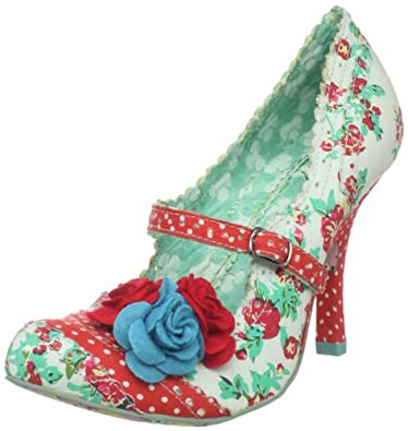 Irregular Choice Women's Cortesan Floral Too Pump,Red/Blue,11 M US