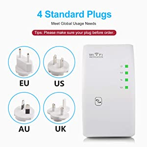 EASON Wireless WiFi Repeater, WiFi Extender Ultraboost WiFi Amplifier Remote Repeater 300M WiFi Enhancer Wi Fi Repeater Access Point,1 (Color: 1)