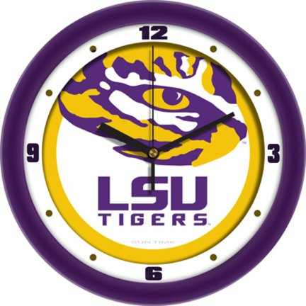 Louisiana State LSU Tigers NCAA 12In Collegiate Wall Clock