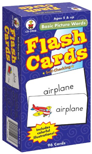 Basic Picture Words Flash Cards, Grades K - 2