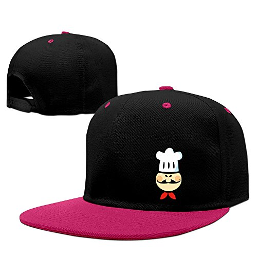 unisex-lunacp-chef-chefs-cook-cooking-food-cartoon-funny-snapback-caps-pink-one-size