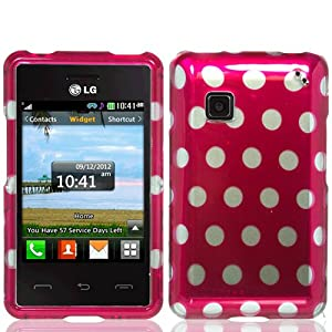 dots hard case cover for lg 840g stylus cell phones
