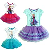Frozen Girl Elsa & Anna tutu princess dress w/ action figure