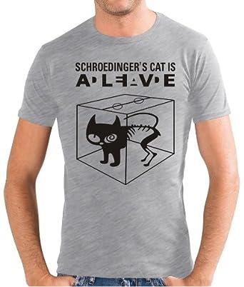 Touchlines Herren Slimfit T-Shirt Schroedingers Cat Is Alive, ash, S, B220213SF
