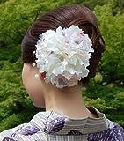髪飾り・コサージュ両用 ドレス・振袖・浴衣 和洋兼用 かみかざり 白 卒業式 袴 披露宴