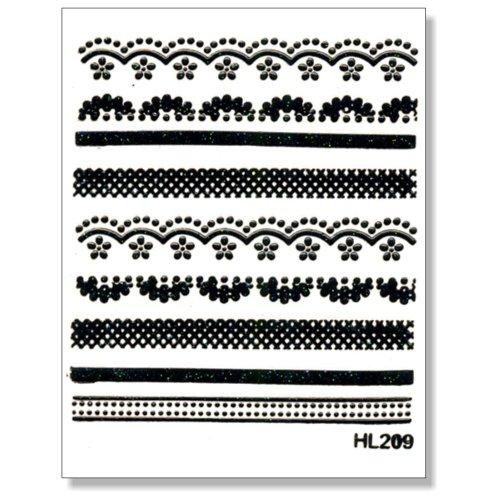 3D Sticker Borten schwarz 203-06 selbstklebende 3D-Borten
