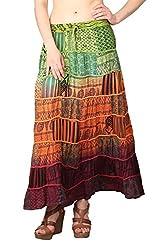 Shararat Women's Skirt (9090_Multi Color_Free Size)