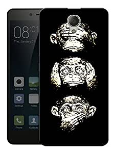 "Humor Gang 38 Monkeys Printed Designer Mobile Back Cover For ""Xiaomi Redmi Note 2"" (3D, Matte, Premium Quality Snap On Case)"
