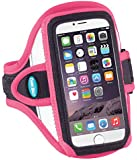 "Armband for iPhone 6 (4.7""), Galaxy S4, Galaxy S3 and more - Reflective Pink"