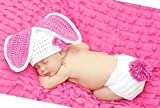 Fashion Cute Newborn Boy Girl Baby Costume Outfits Photography Props Rabbit Hat Pant