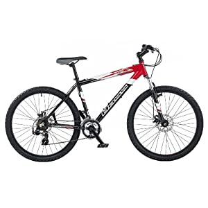 Boss Panic Men's Bike - Black/Red, 26 Inch