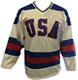 White Home 1980 USA Olympic Hockey Replica Game Mesh Jersey Miracle on Ice Adult