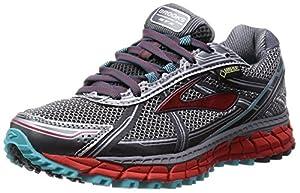 Brooks Women's Adrenaline ASR 12 GTX Trail Running Shoes Grey Grau (Anthracite/Hibiscus/Capri) 6.5