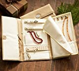 Vegan Leather Travel Jewelry Case - Jewelry Organizer by Case Elegance