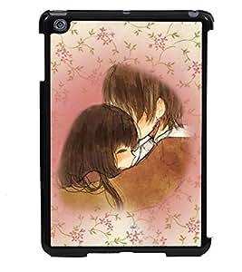 PRINTVISA Lovely Couple Premium Metallic Insert Back Case Cover for Apple IPad Mini - D5864
