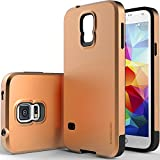 [Dual Layer] Caseology Samsung Galaxy S5 Premium [Slim Armor] Impact Resistant Protective Slim Armor Hard Case [Copper Gold] [Made in Korea] (for Verizon, AT&T Sprint, T-mobile, Unlocked)