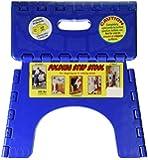 B & R Plastics 1016B E-Z Foldz Blue Step Stool