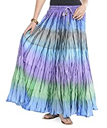 Soundarya Women Cotton Multicolor Long Skirt