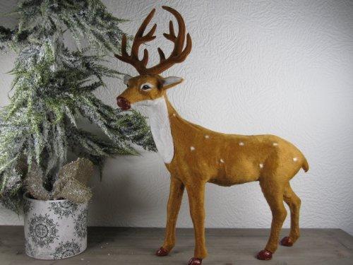 Super schönes Reh Rentier Winter Deko 50 cm