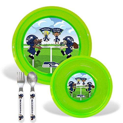 Seattle Seahawks Nfl Bpa Free Toddler Dining Set (4 Piece)