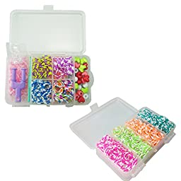 Yueton Bracelet Rubber Band Loom Complete Collection Organizer Storage Kit-includes 600 Pcs Colorful Bands+1 Pack S Clips+ 1 Pc Hook+1 Pc Loom+20 Pcs Beads,loom Bracelet Maker Kit,anklet DIY Making