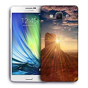 Snoogg Mountains Sunrise Designer Protective Phone Back Case Cover For Samsung Galaxy A7