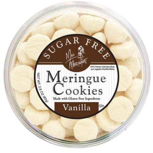 Miss Meringue Sugar Free Meringue Cookies, Vanilla, 2.8-Ounce Container