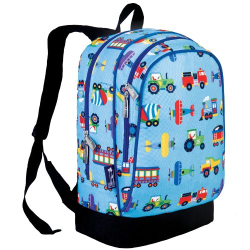 Wildkin Olive Kids Trains, Planes And Trucks Sidekick Backpack