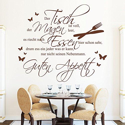 Wandtattoo-Loft-Schriftzug-Der-Tisch-ist-vollGuten-Appetit-Wandtattoo-49-Farben-3-Gren-Wandaufkleber-fr-Esszimmer-oder-Kche-Wandsticker-grau-80-x-91-cm