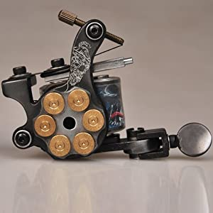 Custom top tattoo machine gun kit hand made 10 wrap coil for Amazon tattoo machine
