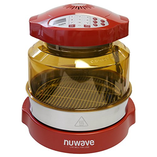 NuWave Oven Red Pro Plus with Stainless Steel Extender Ring Kit (Small Nuwave Oven compare prices)