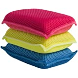 Ultra Micro Fiber Miracle Sponge 3 Pack Blue - Red -Yellow