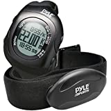 Pyle Health PSBTHR70BK Bluetooth Fitness Heart Rate Watch and Monitor with Training Sensor Data Transmission, Black, Adjustable