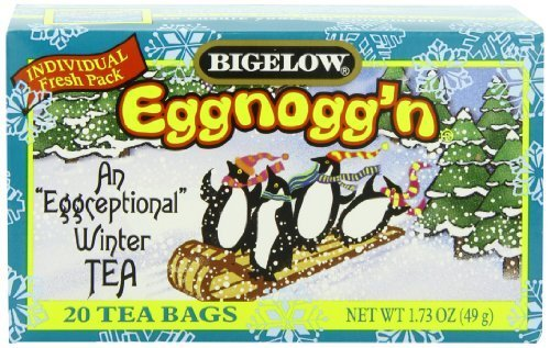 Bigelow Eggnogg'N Tea, 1.73-Ounce Boxes (Pack Of 6) By Bigelow Gluten Gmo Free