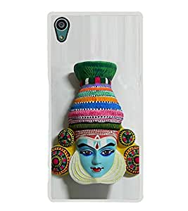 Colourful South Indian Dance Facemask 2D Hard Polycarbonate Designer Back Case Cover for Sony Xperia Z5 :: Sony Xperia Z5 Dual