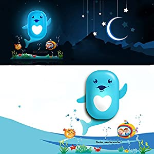 KingSo DIY Wallpaper LED Light-controlled Small Dolphin Night Light Wall Lamp from KingSo
