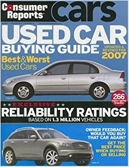 Consumer Reports Used Car Buying Guide Amazon