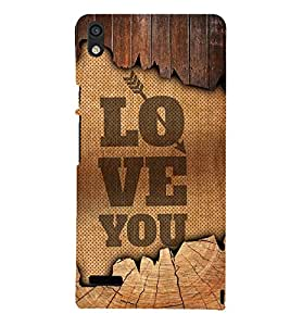Love You Quote 3D Hard Polycarbonate Designer Back Case Cover for Huawei Ascend P6 :: Huawei P6 :: Huawei Ascend P6 Dual