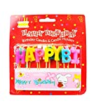 The Candle Shop Multicolor Happy Birthday Alphabets