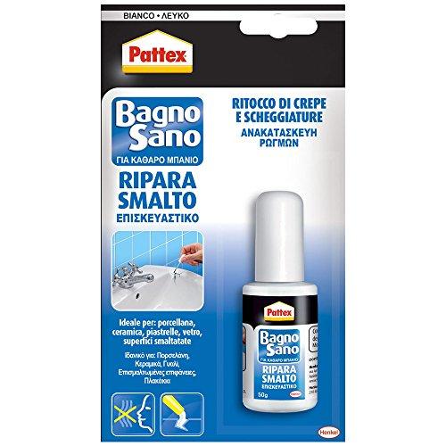 Pattex 1864536 Silicone Acetico, Bagno Sano Ripara Smalto, 50G