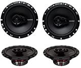 "4) New Rockford Fosgate R165X3 6.5"" 180W 3 Way Car Audio Coaxial Speakers Stereo"