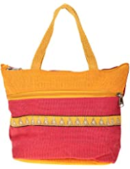 Saran Jute Bags Women's Multi Color Jute Handbag (SJB_32)