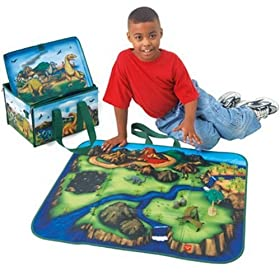 ZipBin Dinosaur Playset