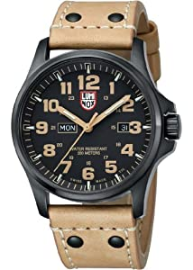 Luminox Atacama Field Day Date Light Brown Leather Mens Watch 1925