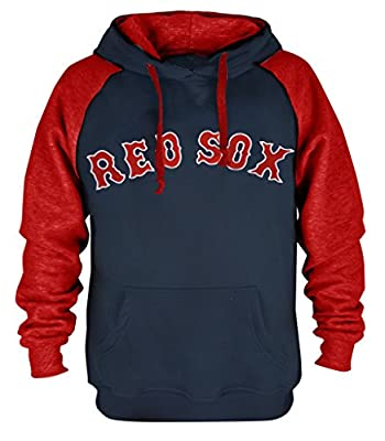 Clor Mens Boston Red Sox Super Athletic Pullover Hoodie