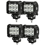 "SHANREN 4Pcs 4"" 18W CREE LED Work Lig..."