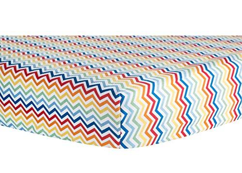 Trend Lab Crib Sheet, Rainbow Chevron - 1