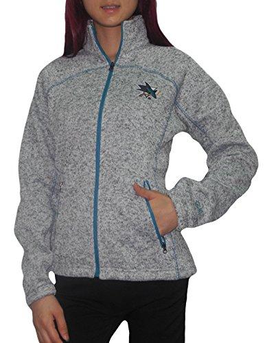 Womens Nhl San Jose Sharks Athletic Zip-Up Pro Team Track Jacket Xl Grey front-334801